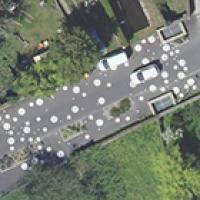 Point d'avancement du PCRS (Plan de corps de rue simplifié) produit par l'IGN
